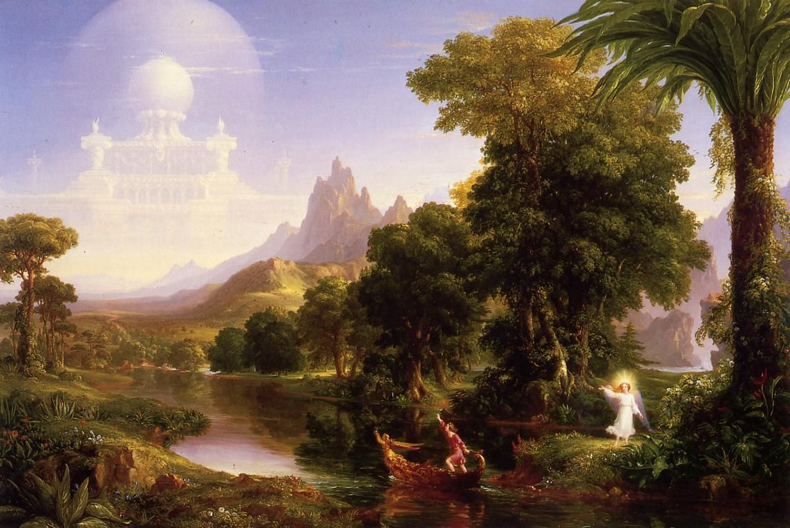 Thomas Cole - The Voyage of Life 1st Series - Youth (oil on canvas, 1840)