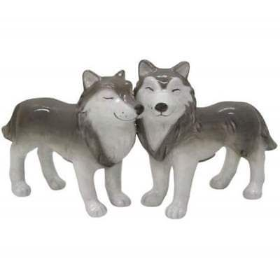 Wolf Couple Salt and Pepper Shaker Set.