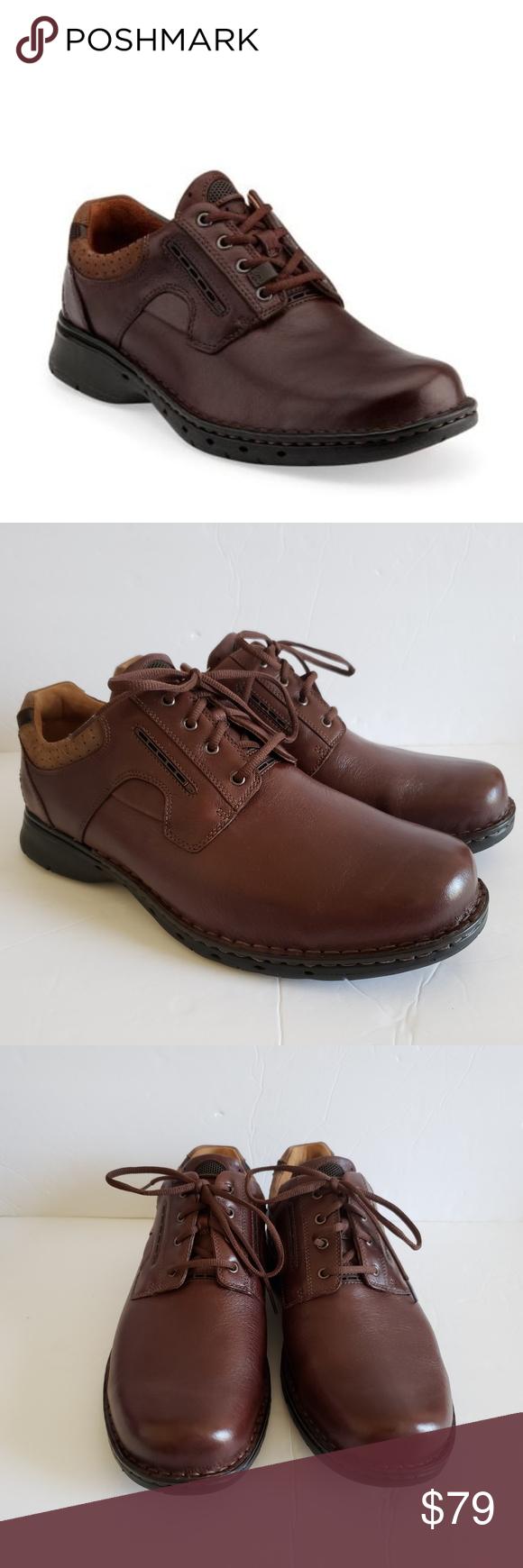 Clarks Unstructured Un.Ravel Brown Oxfords Shoes Oxford