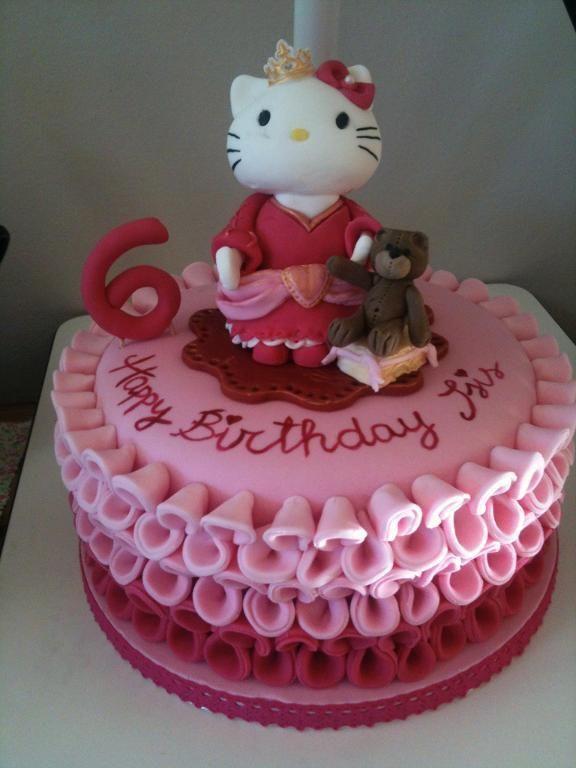 Princess Hello Kitty cake www.bakeacake4me.com www ...