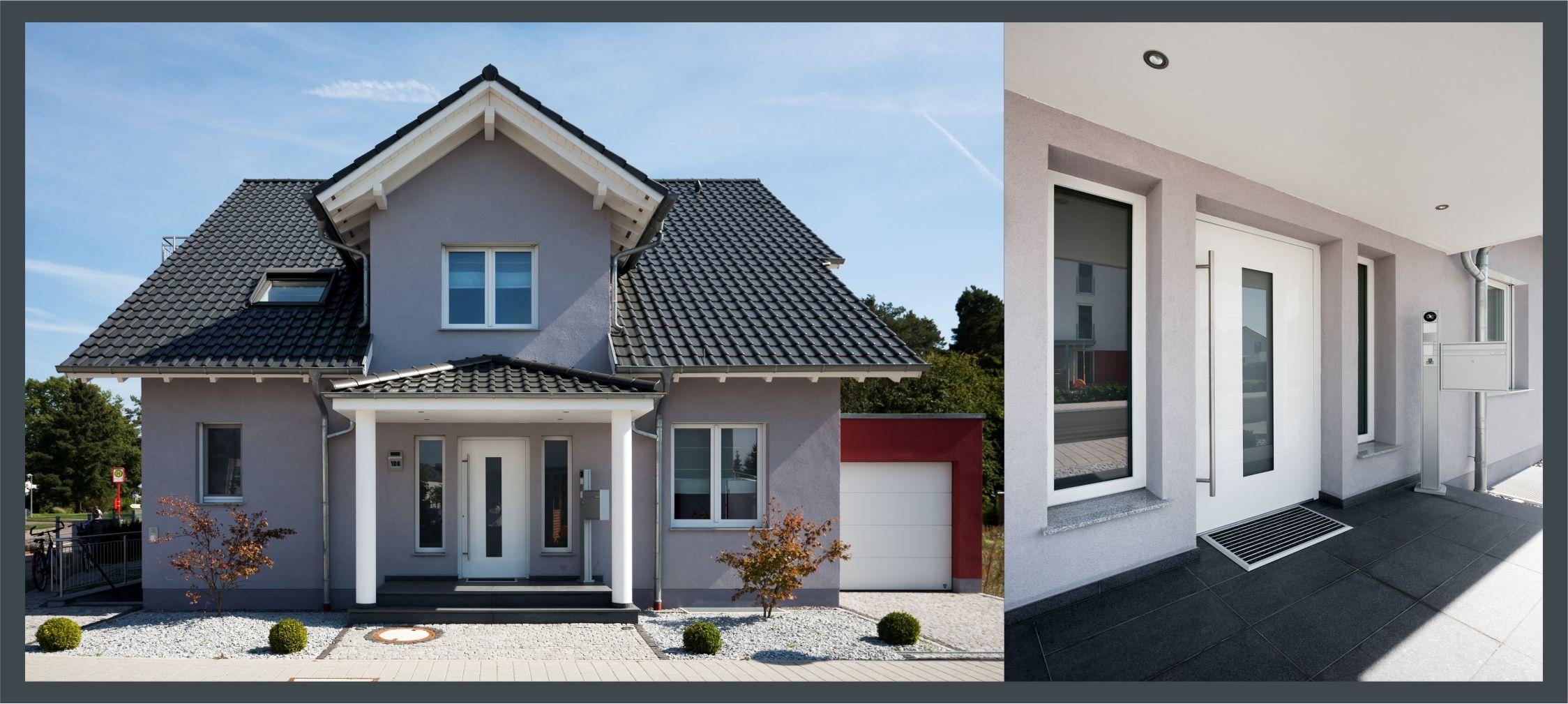 Traditionelle architektur mit modernen stilelementen macht dieses haus mit einfachen mitteln zum hingucker