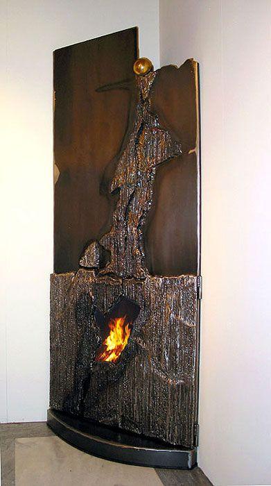 Feuer, Anzündhilfen, Kaminkaminsimse, Kamine, Brennholz, Feuerstellen,  Backöfen, Moderne Kunst, Kunst Ideen