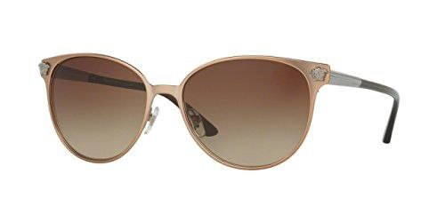 b5ba33a8d0 Versace Womens Sunglasses (VE2168) Brown Metal - Non-Polarized - 57mm