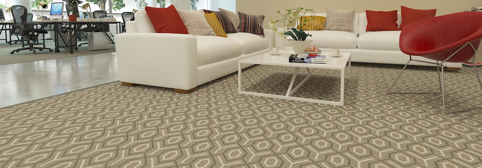 Gracie C David Hicks Style Modern Pattern Wool Luminescent Nylon Broadloom Carpet Made In