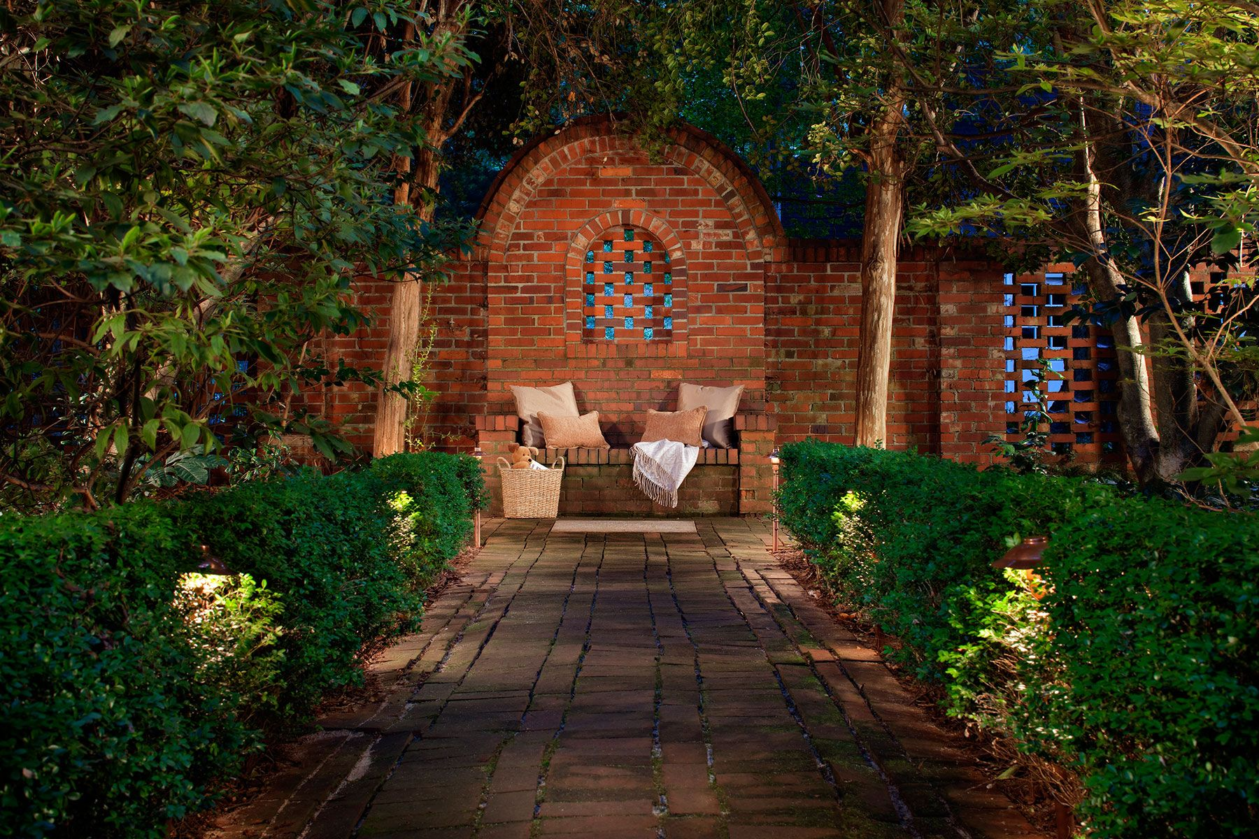 Backyards can easily become your personal sanctuary with custom backyards can easily become your personal sanctuary with custom designed outdoor lighting from outdoor lighting perspectives aloadofball Gallery