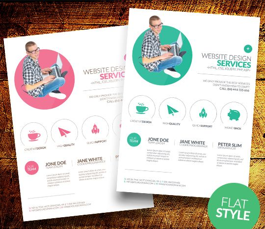 minimal web design flyer template jpg | flyers | Pinterest ...