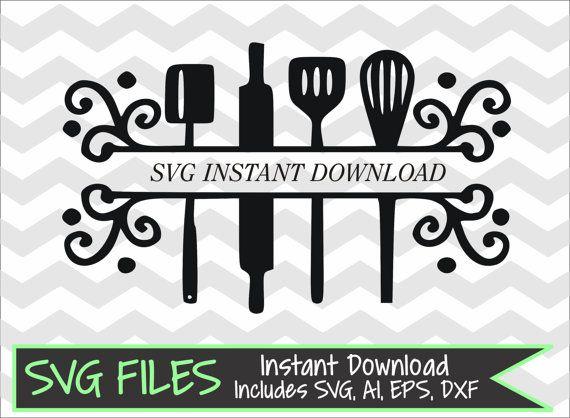Kitchen Glamorous Kitchen Utensil Split Monogram Frame By
