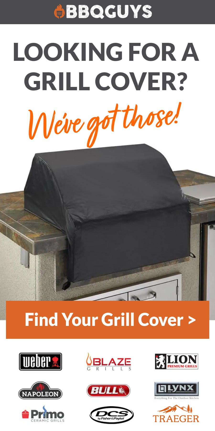 Protect Your Grill When It S Not In Use With A High Quality Grill Cover From Bbqguys Com Grill Cover Diy Outdoor Kitchen Bbq Equipment