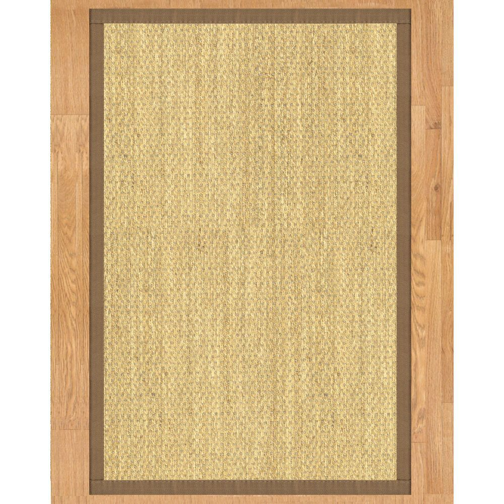 Handcrafted Messina Natural Seagrass Runner Rug With Taupe
