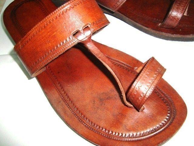 5c1552b71c8c Plain Moroccan Inspired Leather SandalsHandmade by IncredibleIndia ...