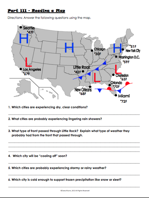 Weather Pattern Answer Sheets Yahoo Image Search Results