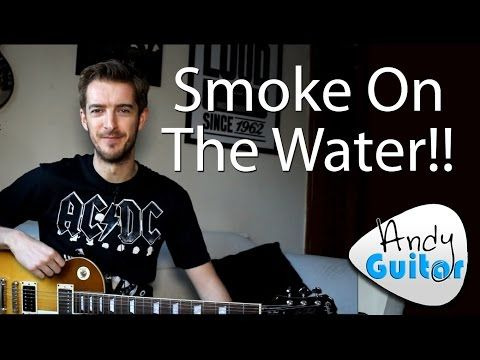 How to play Smoke On The Water on Guitar   Easy Beginner Riff ...