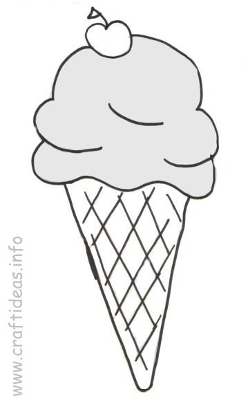 Ice Cream Cone Coloring Book Page | Rubber, Clear, Digi Stamps ...