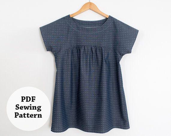 Photo of Ryan Top (PDF Sewing Pattern) Women's Apparel