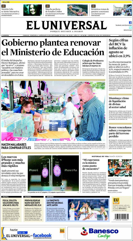 #Portadas #Nacionales #PrimeraPagina #Titulares #Noticias #DesayunoInformativo @eluniversal