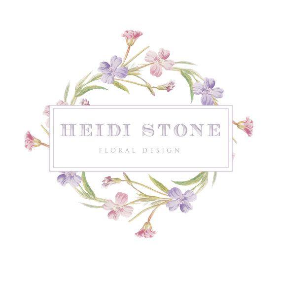 Insignia Floral Vintage Logo De Flor Silvestre Por