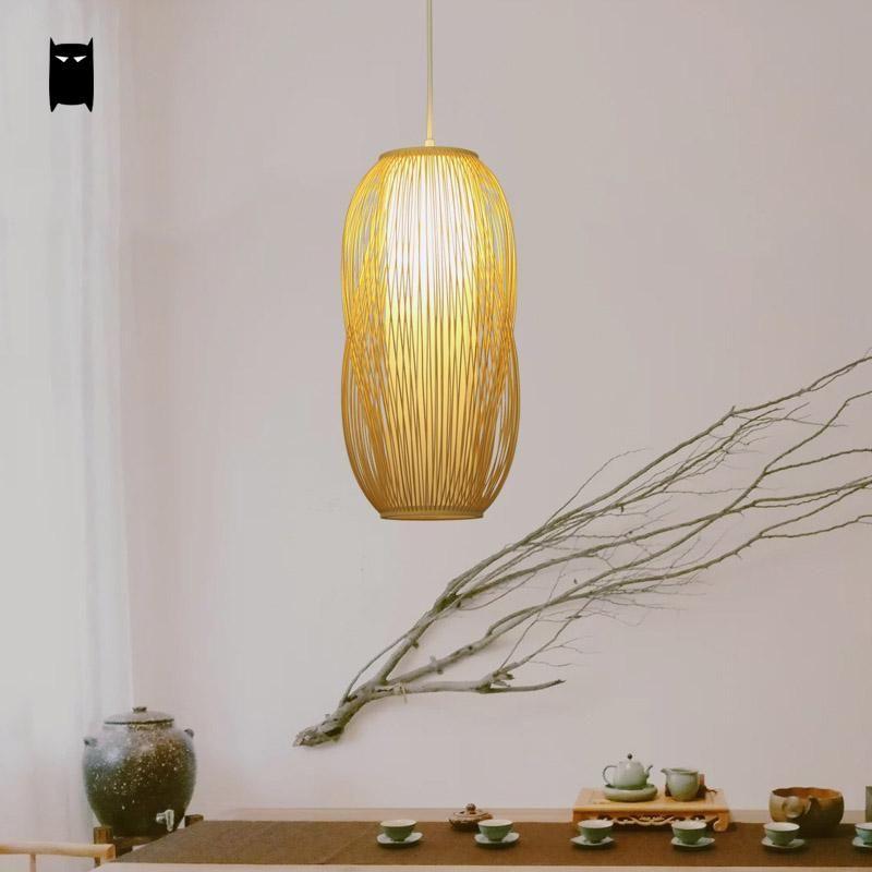 Handmade bamboo pvc lantern shade pendant light fixture asian korean handmade bamboo pvc lantern shade pendant light fixture asian korean japanese hanging lamp luminaria indoor dining aloadofball Images