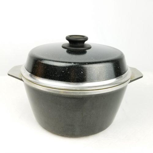 Kf Kitchen Fair Dutch Oven 8 Quart Black Cast Aluminum Stock Pot With Speckles Dutch Oven Stock Pot Black Cast