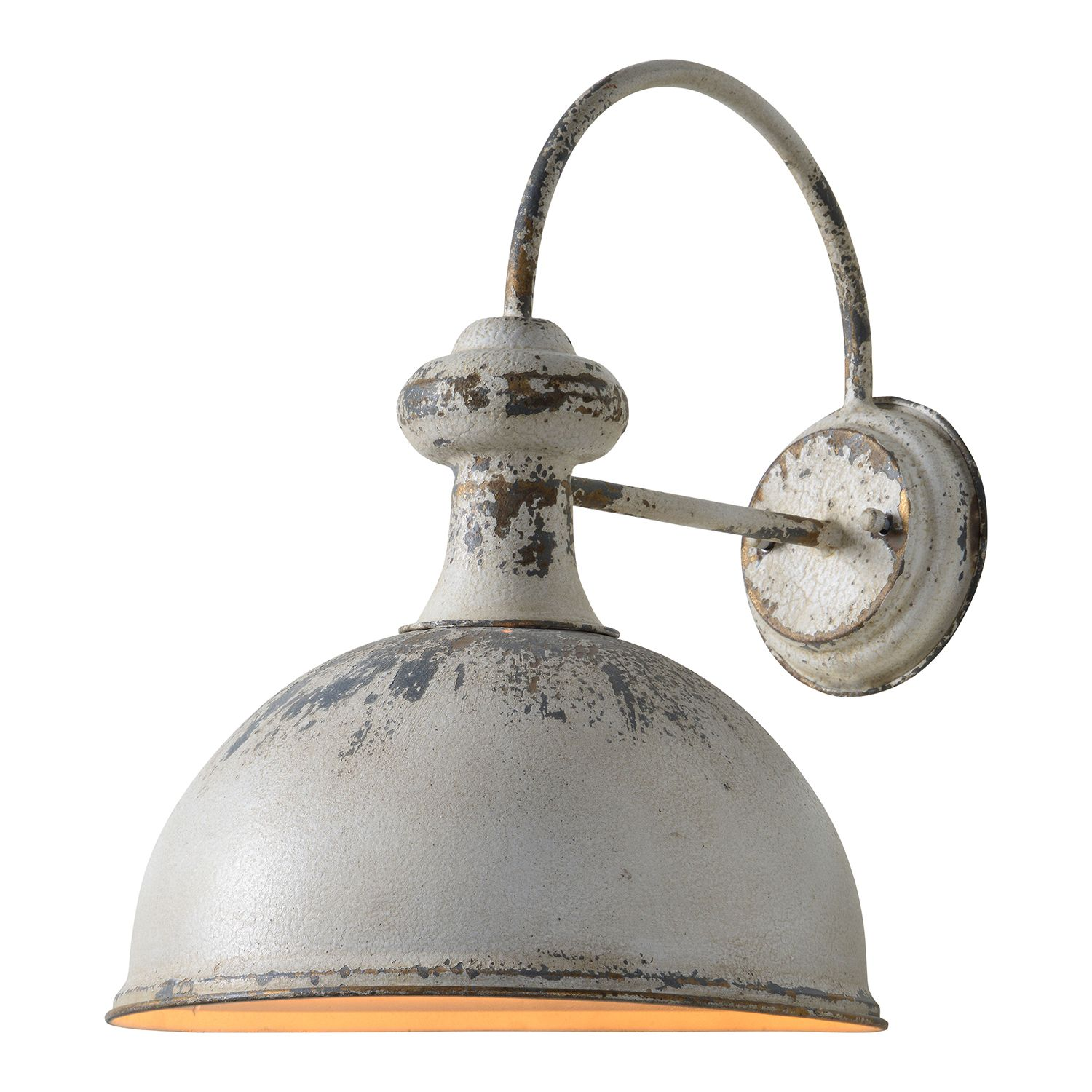 Forty west rich distressed white plug in sconce 707100