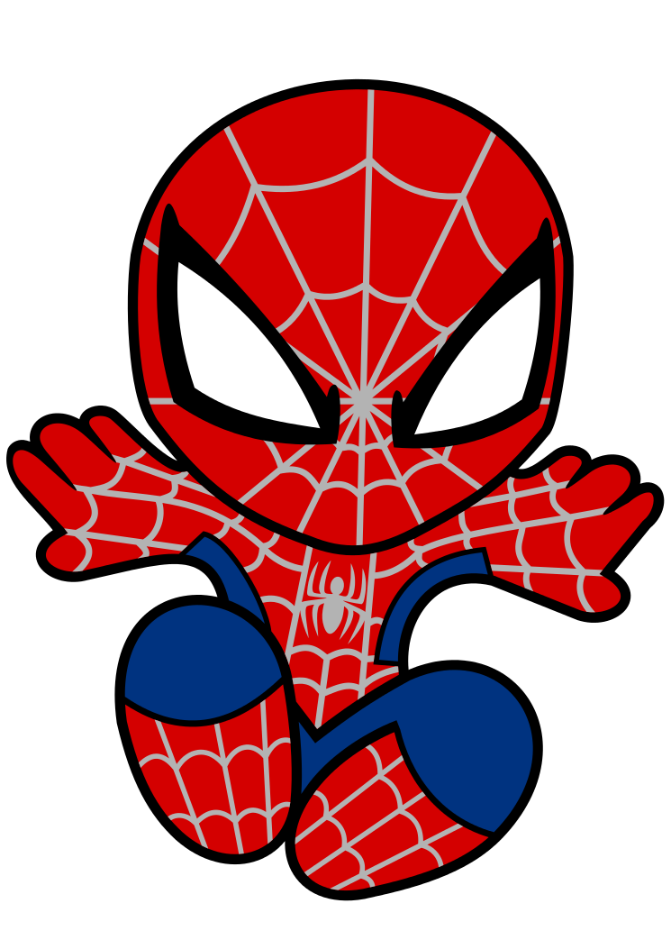 Spiderman baby picture.