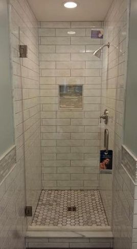 Showers Small Shower Stall Size But With Diffe Tile