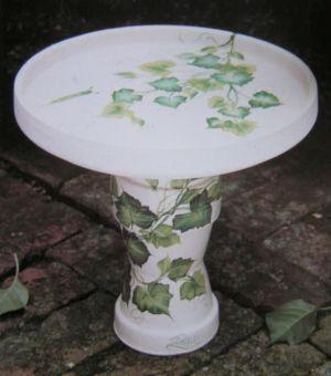 Painted Flower Pot Bird Baths Bird Bath Flower Pots Painted Flower Pots