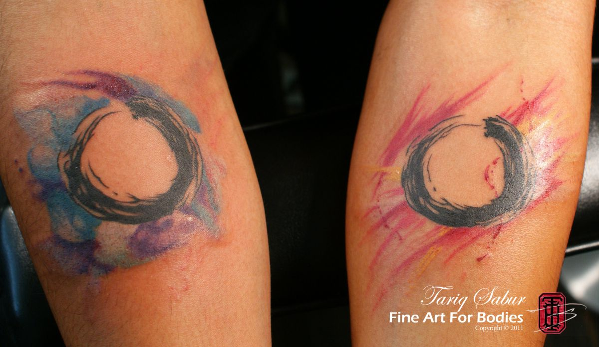 Watercolor Tattoo Watercolor Enso Circle Tattoo Design