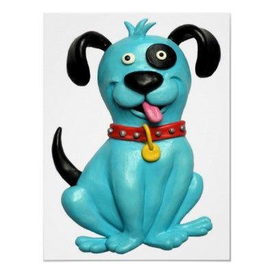 cute clay dog