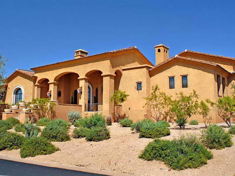 Spanish Style Ranch Homes With Desert Bloombety Spanish Style Homes Spanish Style Ranch Style Homes
