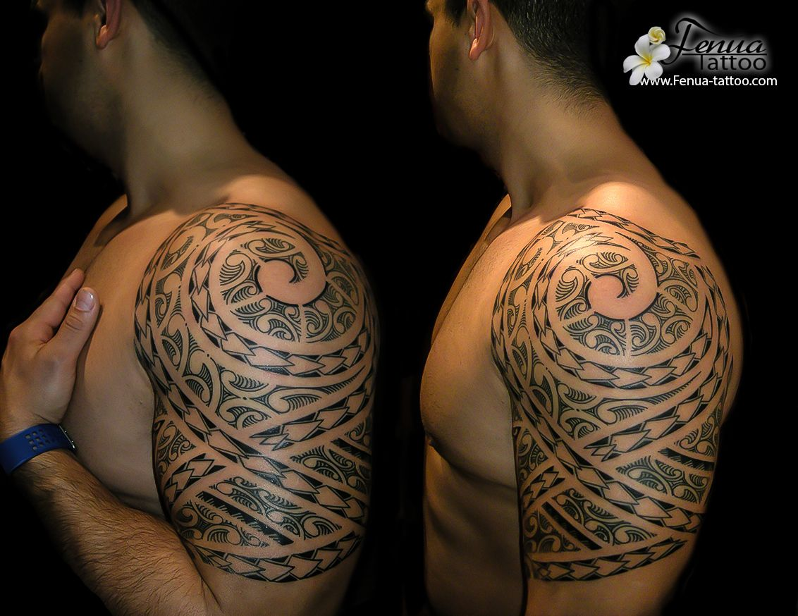 Tatouage Polynesien Tribal Bras Epaule Tatouage Polynesien Idees
