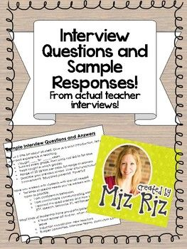 Teacher Interview Questions {And Sample Answers ...
