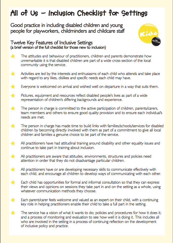 Collaborative Teaching Checklist ~ This checklist for principles of inclusion is perfect
