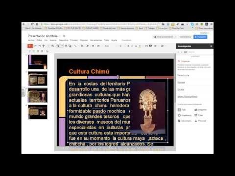 Crear presentaciones con Google Drive - YouTube