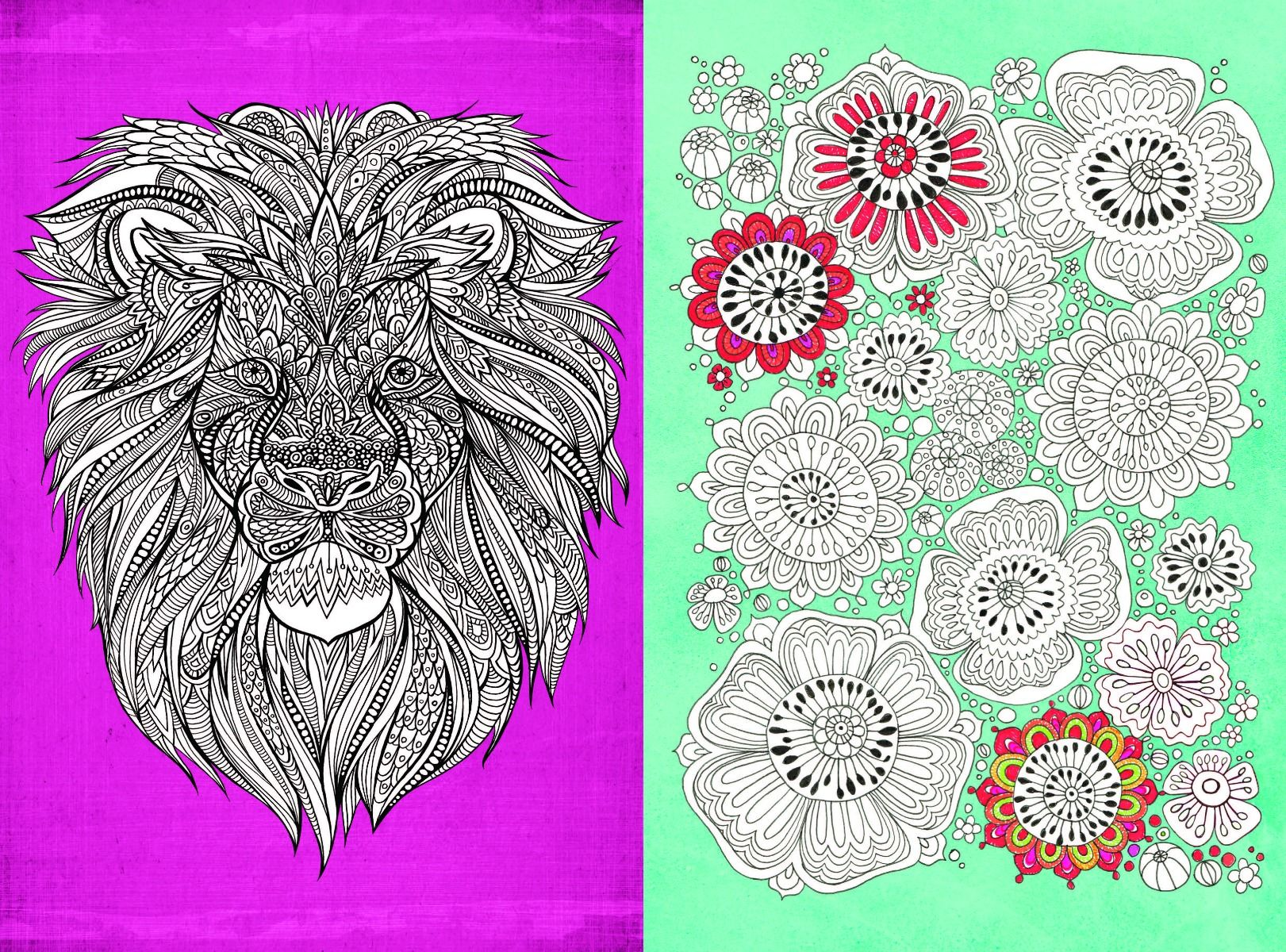 Adult Colouring In Mindfulness 6 FREE Colour Therapy Pages