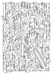 Malvorlage Musik. Bilder für Schule und Unterricht: Musik – Ausmalbild – Bild z… – Zeichnungen