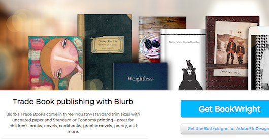 new self publishing options from blurb and book design templates
