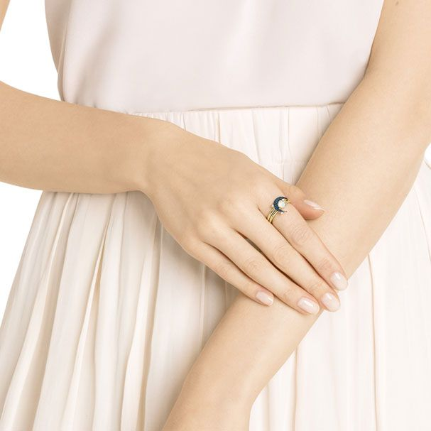 4144e2fe8 Symbolic Moon Ring, Teal, Mixed Plating | I need this stuff ...