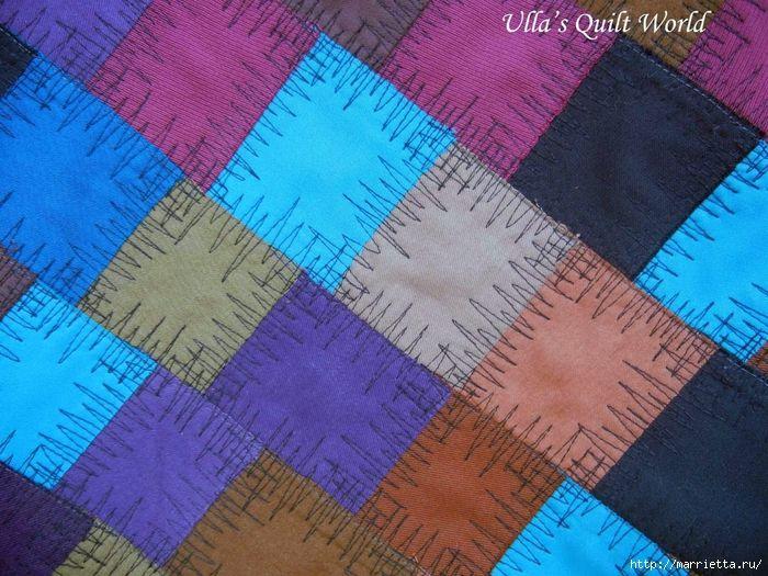 Накидка для кресла, коврик и сумочка из разноцветных лоскутков (11) (700x525, 370Kb)