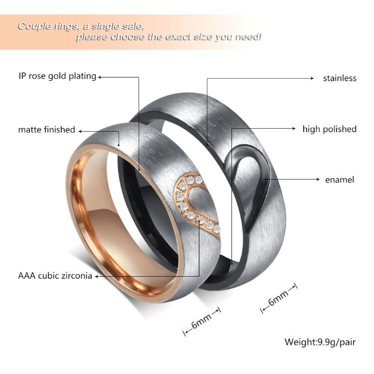 Tungsten Carbide Women or Mens Wedding Engagement Ring Band Set Love Engraved M4