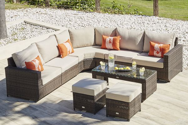 HALO 29 - RATTAN CORNER SOFA Moda Outdoor Rattan Furniture