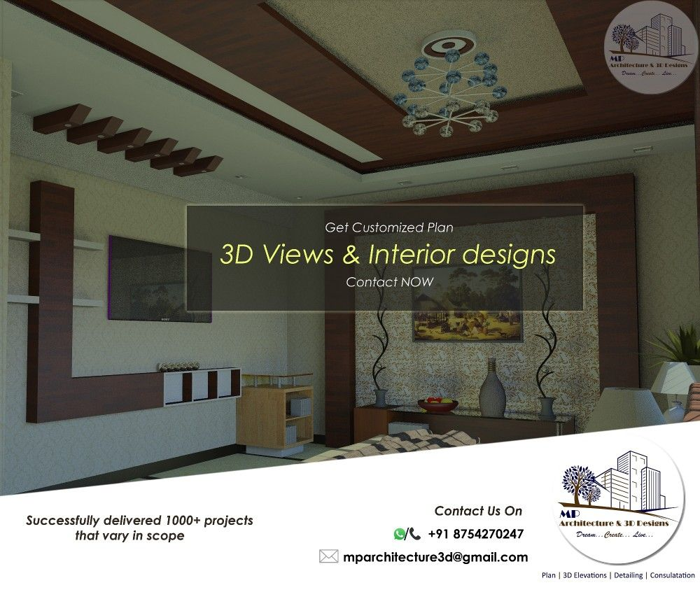 Save time and money on your house construction by getting the 3d designs before you start the construction 3d interior exterior designs by mp