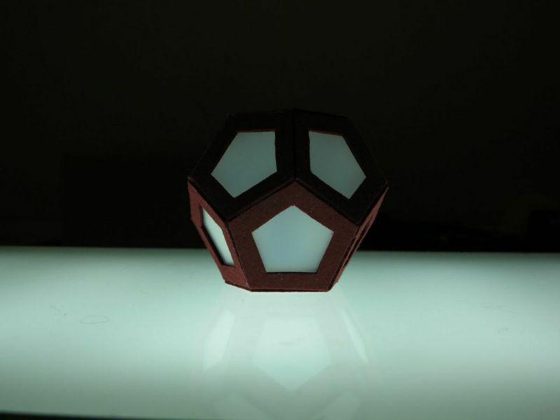 modellino poliedri -dodecaedro-