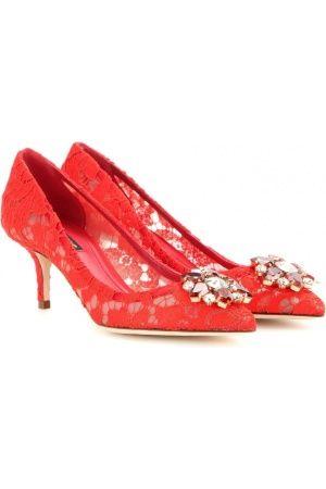 5a4179e45ec Women's heels - D&G Bellucci Embellished Lace Pumps | shoes Dolce ...