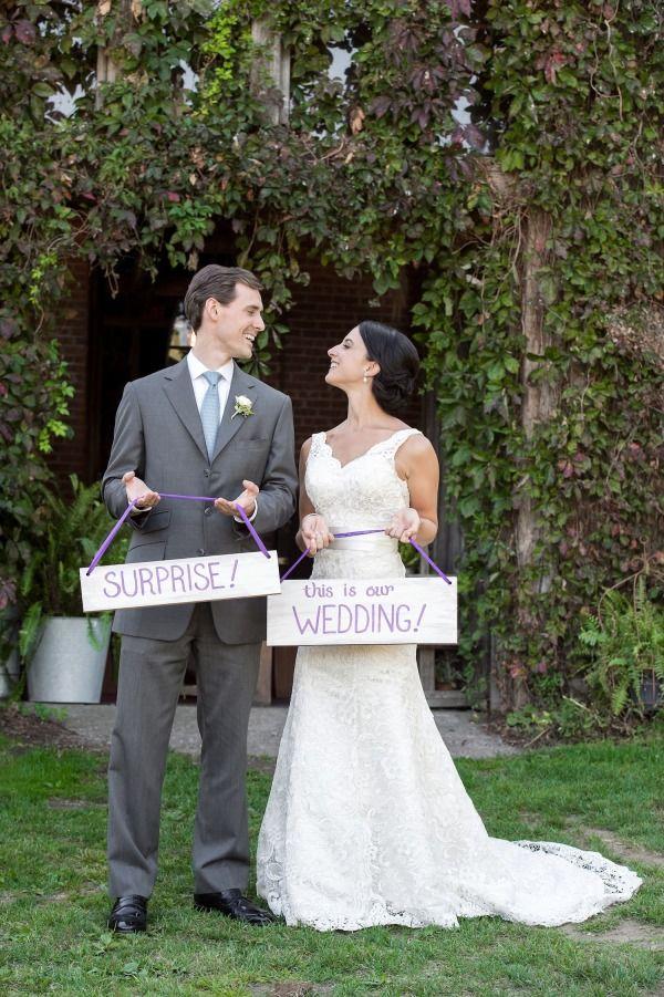 Inspired By Mila Kunis Ashton Kutcher S Surprise Wedding Surprise Wedding Suprise Wedding Backyard Wedding