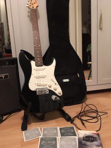 Harley Benton E-Gitarre Inkl Ständer, Tasche und 5 Saitensparen25