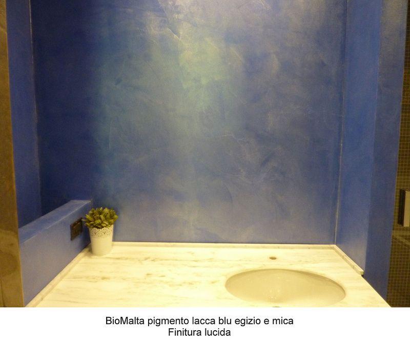 Bagno in resina BioMalta Blu Egizio