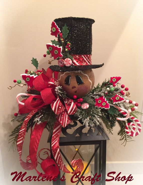gingerbread lantern decoration christmas by marlenescraftshop