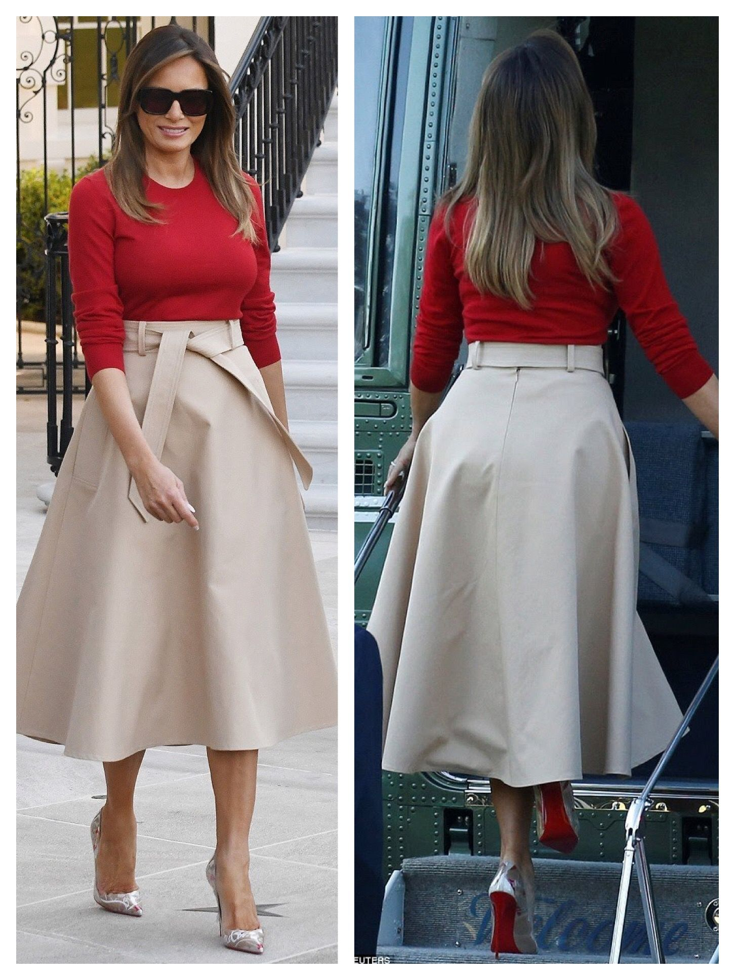 First Lady Melania Trump 7 10 18 Trump Fashion Milania Trump Style Casual Chic Outfit
