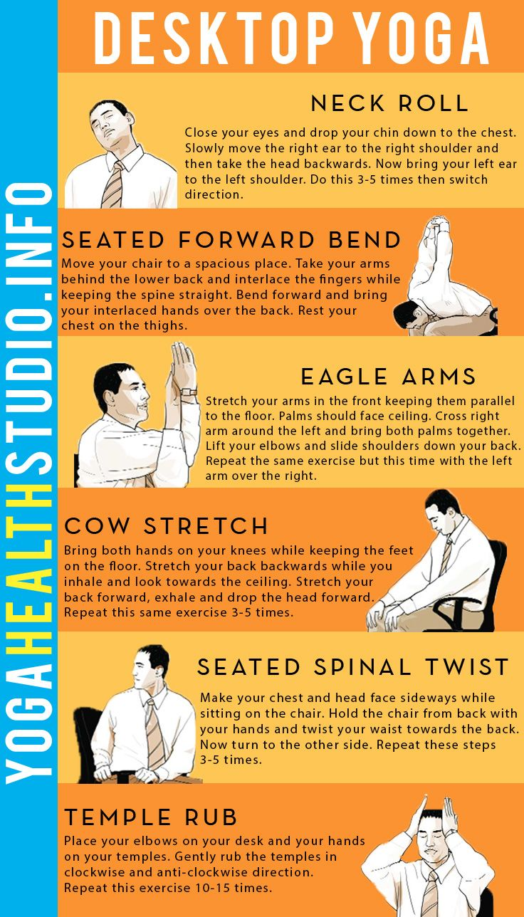 Desktop yoga for instant relaxation do these simple