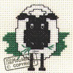 Stitchlets Collection Mouseloft Mini Cross Stitch Kit Farmyard Sheep
